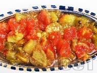 Рецепта Салата кьопоолу - оригинална класическа рецепта с домати, печени чушки, патладжан и чесън